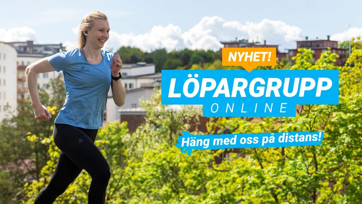 Löpargrupp online, häng med oss på distans