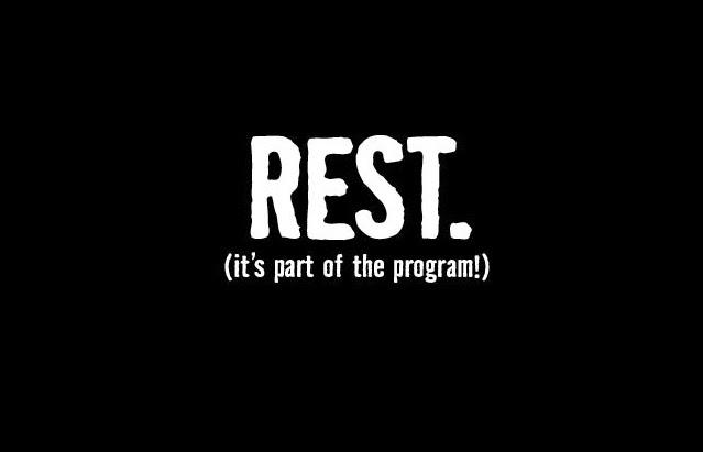 vila från träning