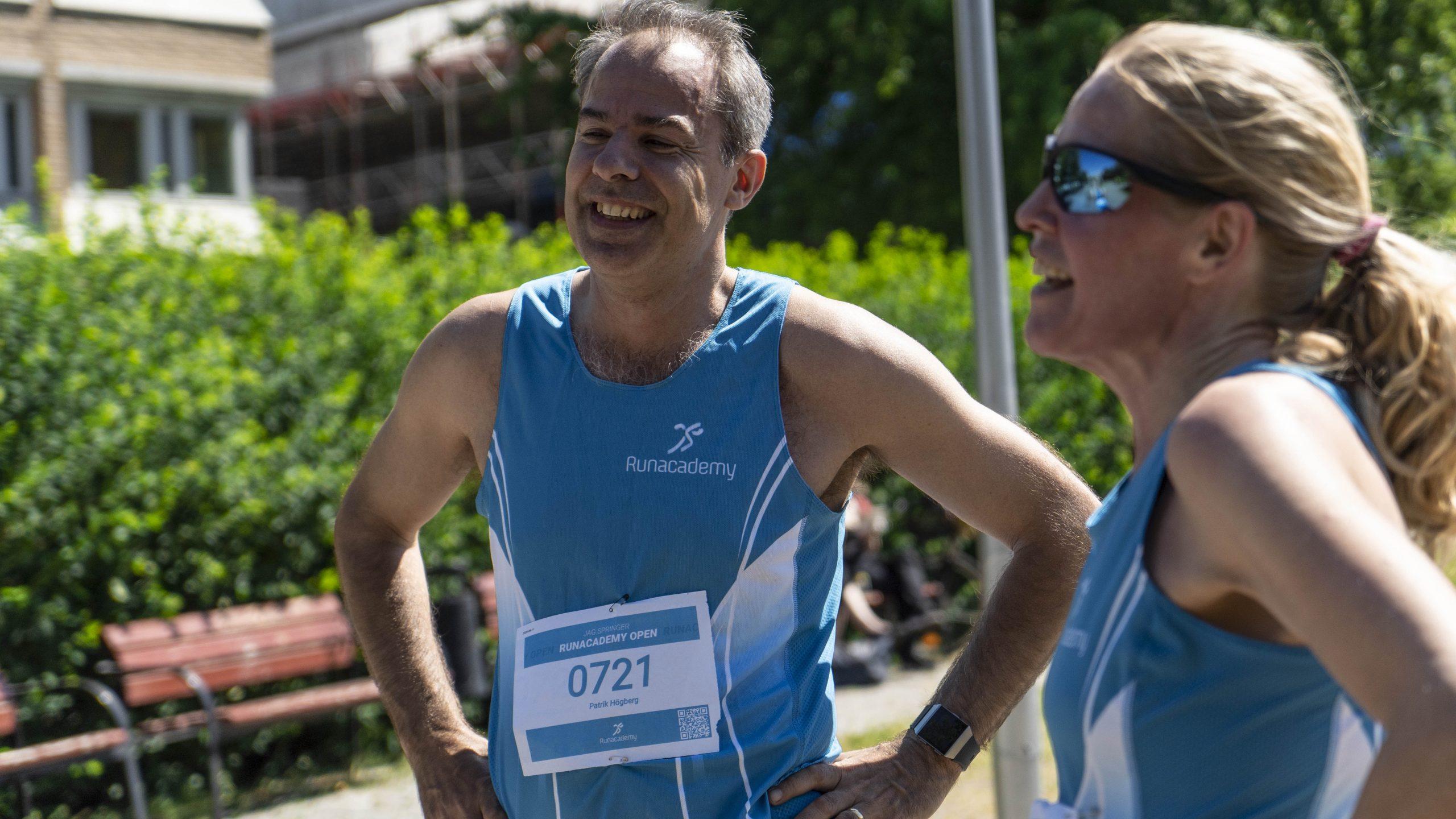 Glada löpare på Runacademy Open