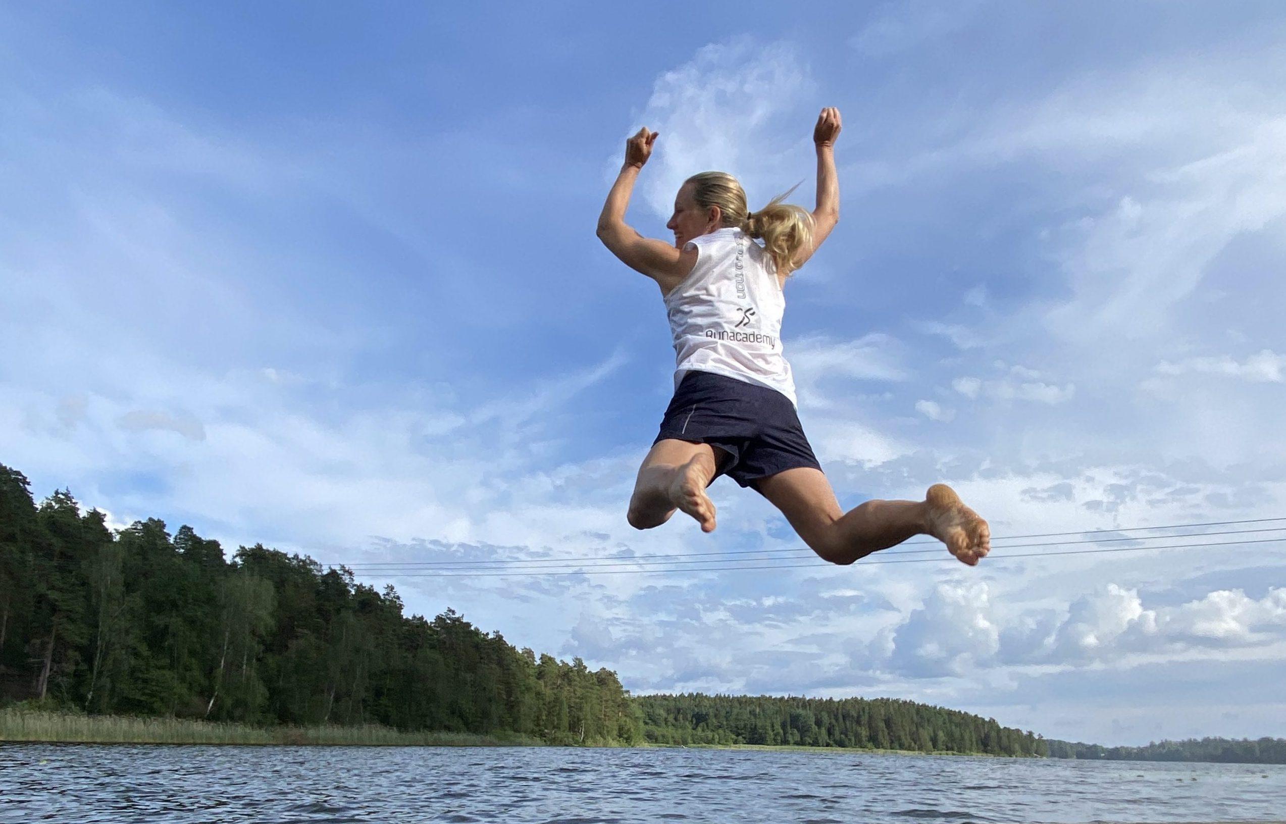 hopp ner i vattnet
